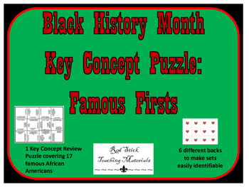 Black History Month, Famous Firsts Puzzle