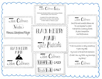 Bulletin Board Set-Black History Month-John Coltrane