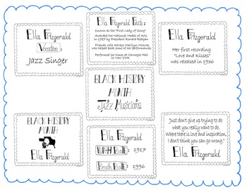 Black History Month Bulletin Board Set/Printables/Signs Musician Ella Fitzgerald