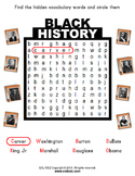 Black History Month / Famous Men Worksheet Packet