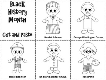 Black History Month Famous People Cut and Paste