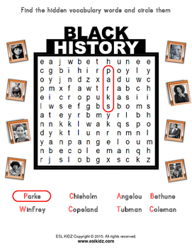 Black History Month / Famous Women Worksheets