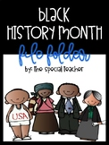 Black History Month File Folder