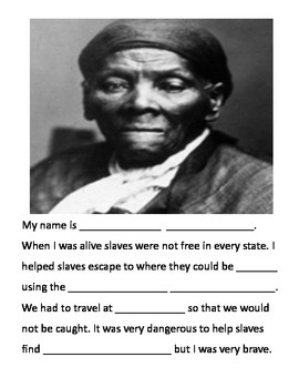 Black History Month Fill in the Blank Reports