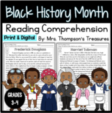 Black History Month - Finding Text Evidence Reading Compre