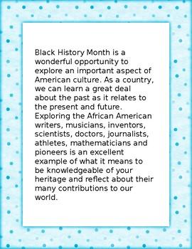 Black History Month Five Paragraph Essay