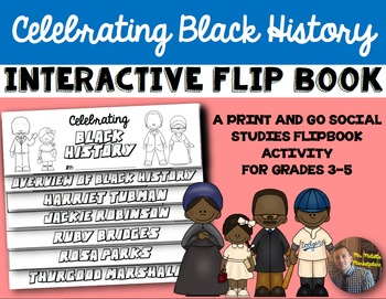Black History Month Flip Book: A Comprehension by Color Interactive Activity