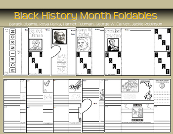 Black History Month Foldables Graphic Organizers