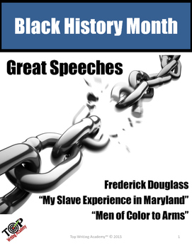 Black History Month Frederick Douglass Close Reading Unit