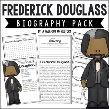 Frederick Douglass Biography Pack (Black History Month)
