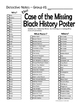 Black History Month Game Mystery Who Done It Game