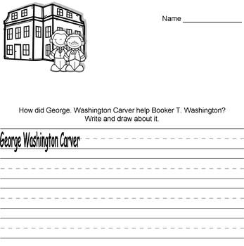 Black History Month: George Washington Carver Writing Prompts