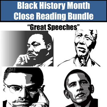 "Black History Month Close Reading Bundle ""Great Speeches"""