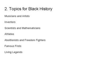 Black History Month Group Project