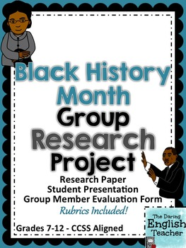 Black History Month Group Research Project