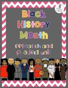 Black History Month Guided Research and Measurement Project - EDITABLE