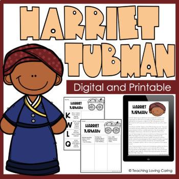 Harriet Tubman Activities - Black History Month