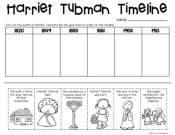 Modest image with harriet tubman printable worksheets