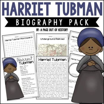 Harriet Tubman Biography Pack (Black History Month)