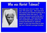 Black History Month Harriet Tubman Smartboard Presentation