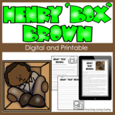 "Henry ""Box"" Brown Activities - Black History Month"