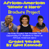African-American Heroes Brochure (Black History Month) Writing Project