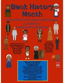 Black History Month Important African Americans in History Foldable Booklets