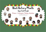 Black History Month Important People Posters Coloring and