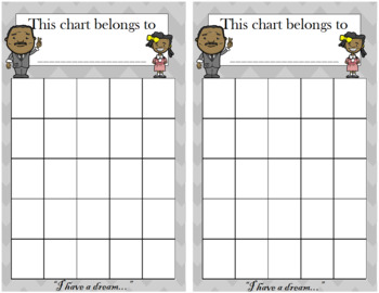 Black History Month Incentive Chart