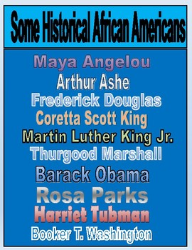 Black History Month Influential Person Project