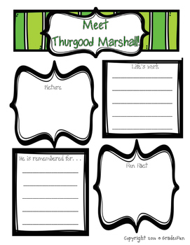Black History Month Information Sheets