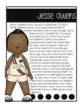 Black History Month - Informational Text