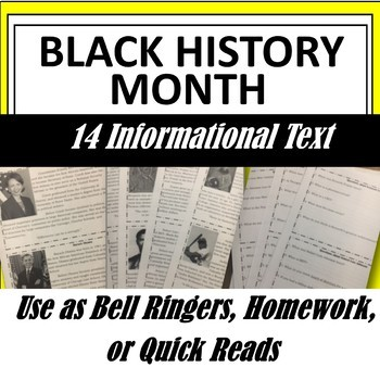 Black History Month: Informational Texts of Influential Af
