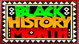 Black History Month Interactive PowerPoint