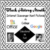 Black History Month-Internet Scavenger Hunt Pictorial-Collage Computer Activity