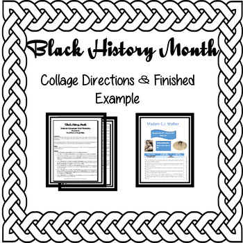 Black History Month-Internet Scavenger Hunt Pictorial-Collage Computer Activity