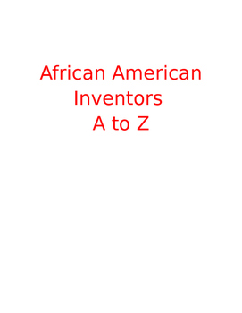 Black History Month Inventors