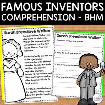 Black History Month - Inventors - Reading Comprehension