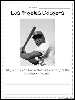 Jackie Robinson Biography Pack (Black History Month)