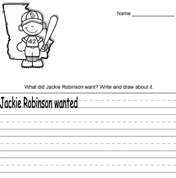 Black History Month: Jackie Robinson Writing Prompts
