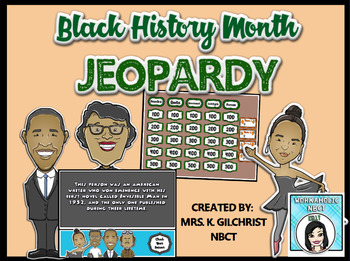 Black History Month Jeopardy Game - Promethean Activinspire Flipchart Lesson.