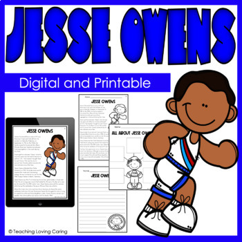 Black History Month Jesse Owens Activity Set