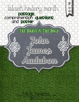 Black History Month JOHN JAMES AUDUBON Poster Passage and