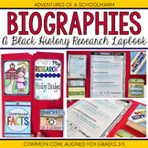 Black History Research Lapbook Project - 3rd 4th 5th - Common Core
