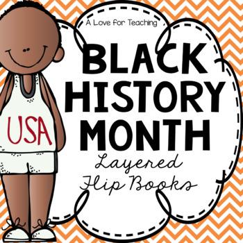 Black History Month Layered Flip Books