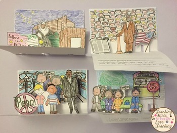 Black History Month Bulletin Board Activities and Pop Up Book Bundle