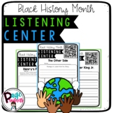 Black History Month Listening Centers with Q.R. Codes and