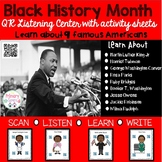 Black History Month Listening center with QR codes