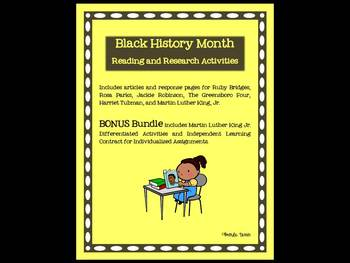 Black History Month Literacy Bonus Bundle