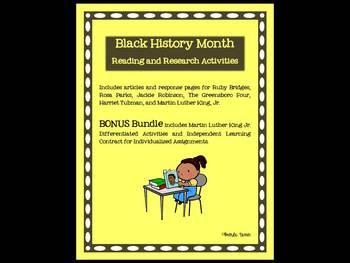 Black History Month Literacy Bonus Bundle